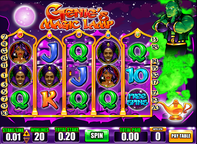 Genies Magic Lamp Slots - Play the Free Demo Game