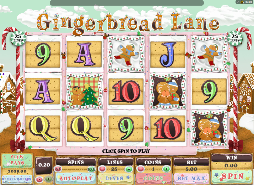 Gingerbread Lane Slots - Play for Free Online Today