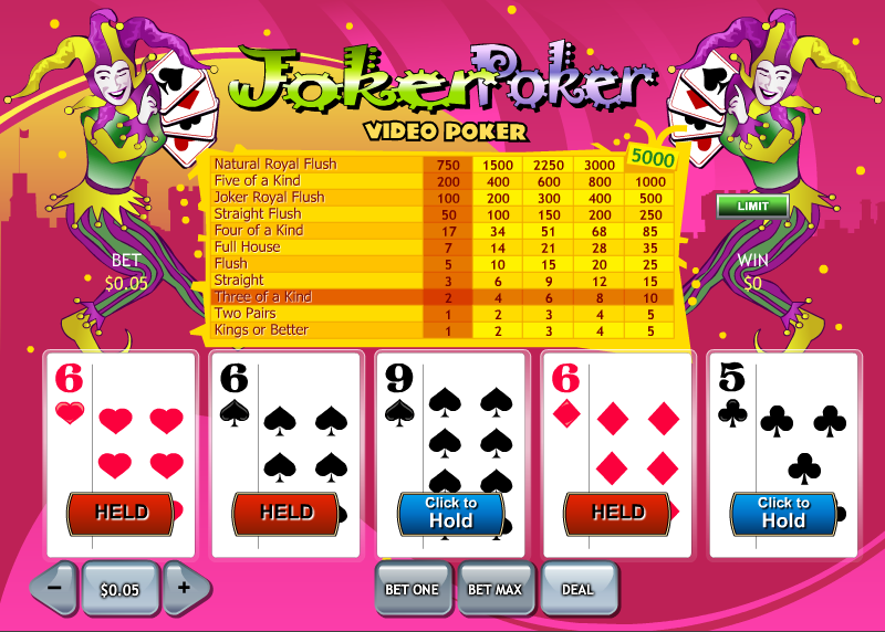Play Joker Poker Video Poker Online at Casino.com India