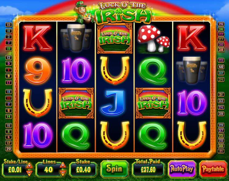 Play Irish Luck Online Slots at Casino.com UK