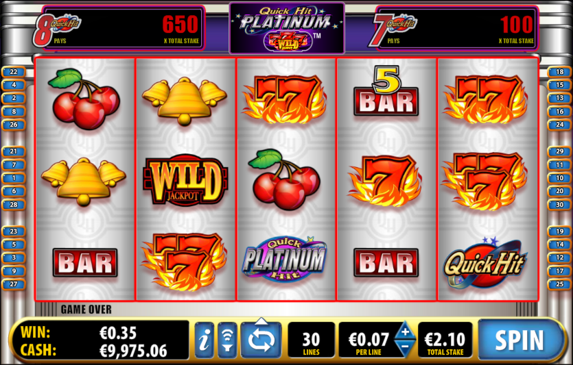 Quick Hit Platinum™ Slot Machine Game to Play Free in Ballys Online Casinos