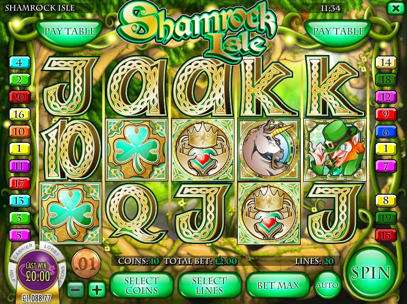 shamrock isle slot