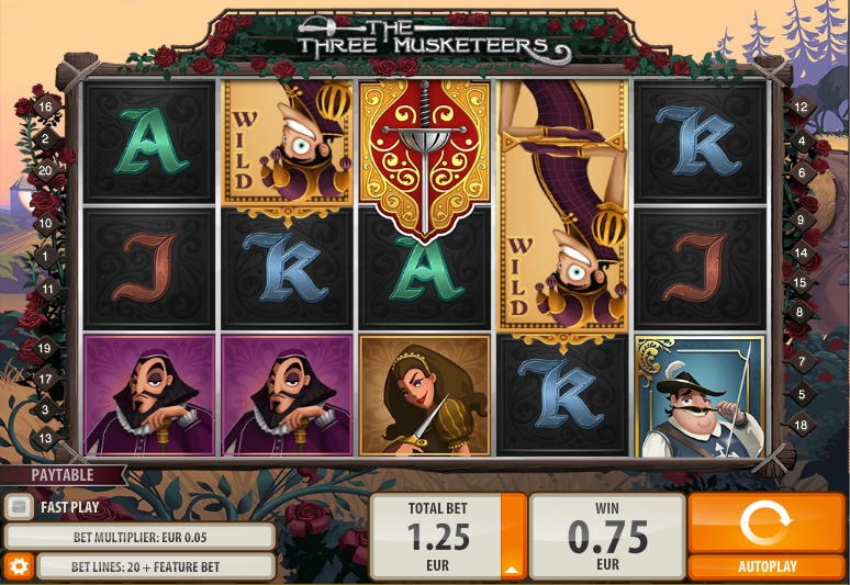 The Three Musketeers QuickSpin Online Slots for Real Money