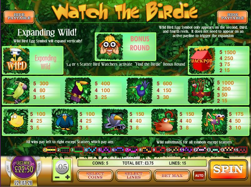 Watch The Birdie Slots - Play this Video Slot Online