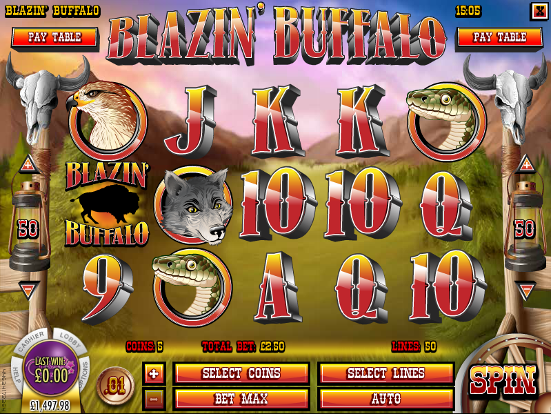 blazing buffalo slot