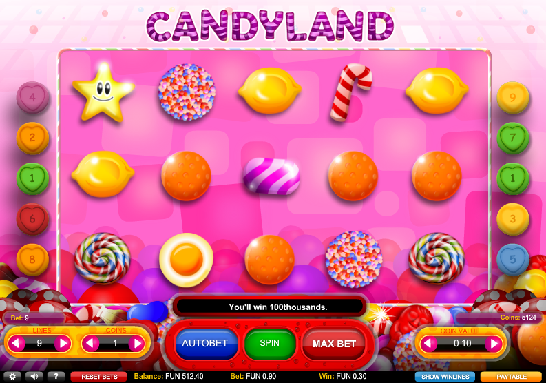 Candy Land Slot Machine - Play Online for Free Money
