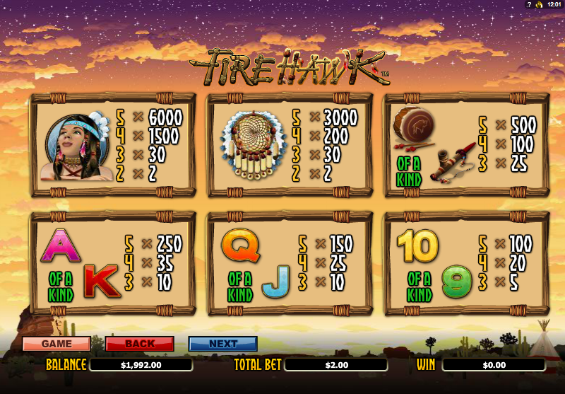 Fire Hawk Slot Machine Online ᐈ NextGen Gaming™ Casino Slots