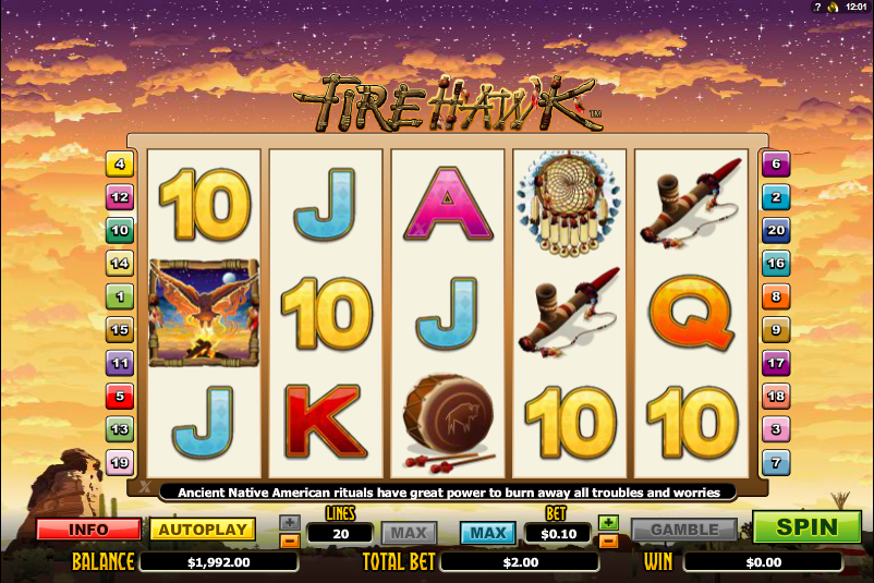 fire hawk slot