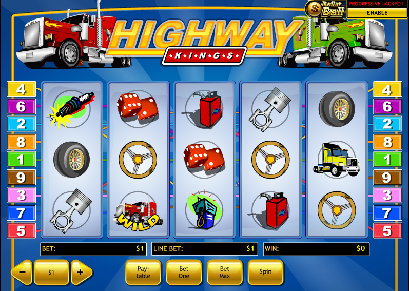 Play Highway Kings Pro Slots Online at Casino.com NZ