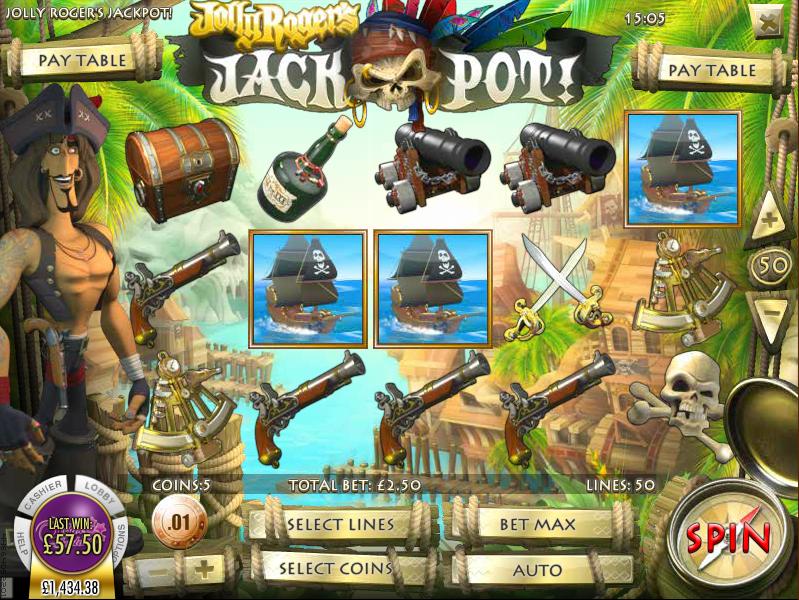 jolly rogers jackpot slot