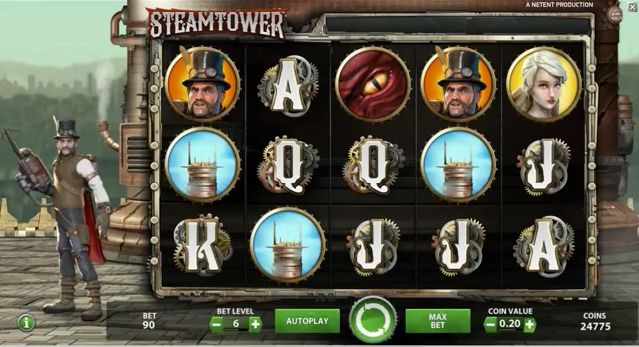 Steam Tower slots and other games at Casumo