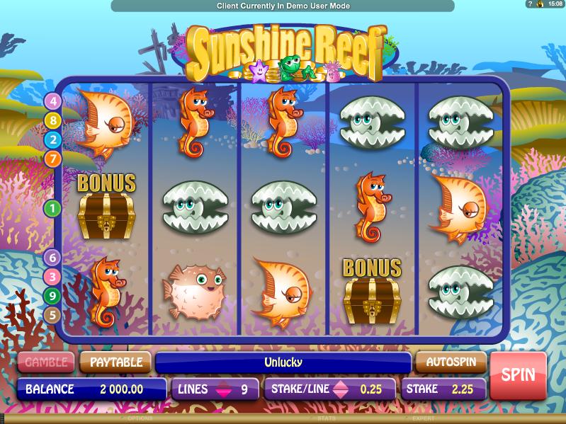 sunshine reef slot
