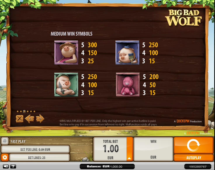 Big Bad Wolf Slot Machine Review & Free Online Demo Game