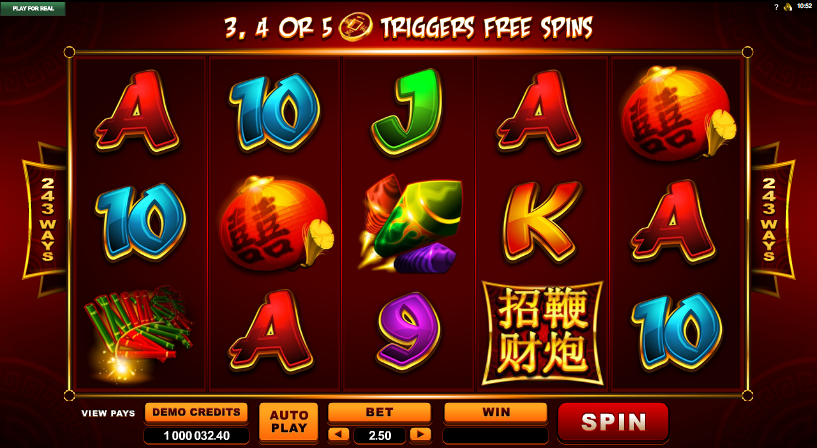 Lucky Firecracker Slot Machine - Play for Free or Real Money