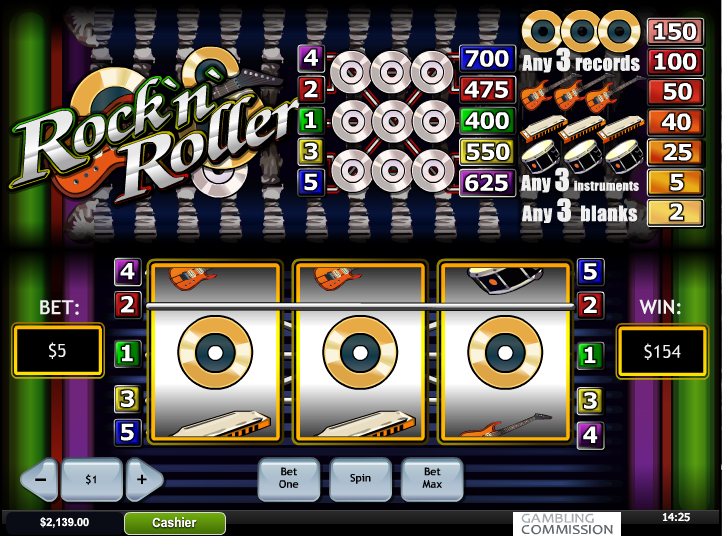 Play Rock 'n' Roller Online Slots at Casino.com UK