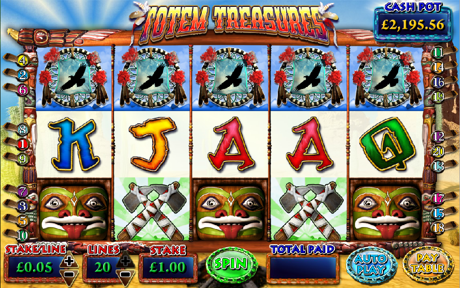 Totem Treasures Slots - Review and Free Online Game