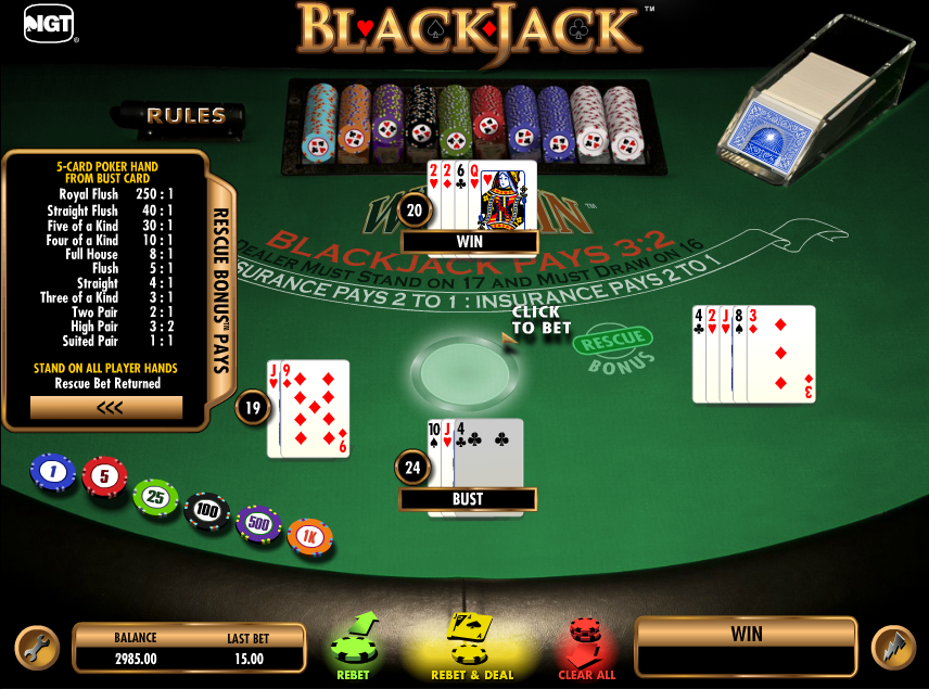 win win blackjack