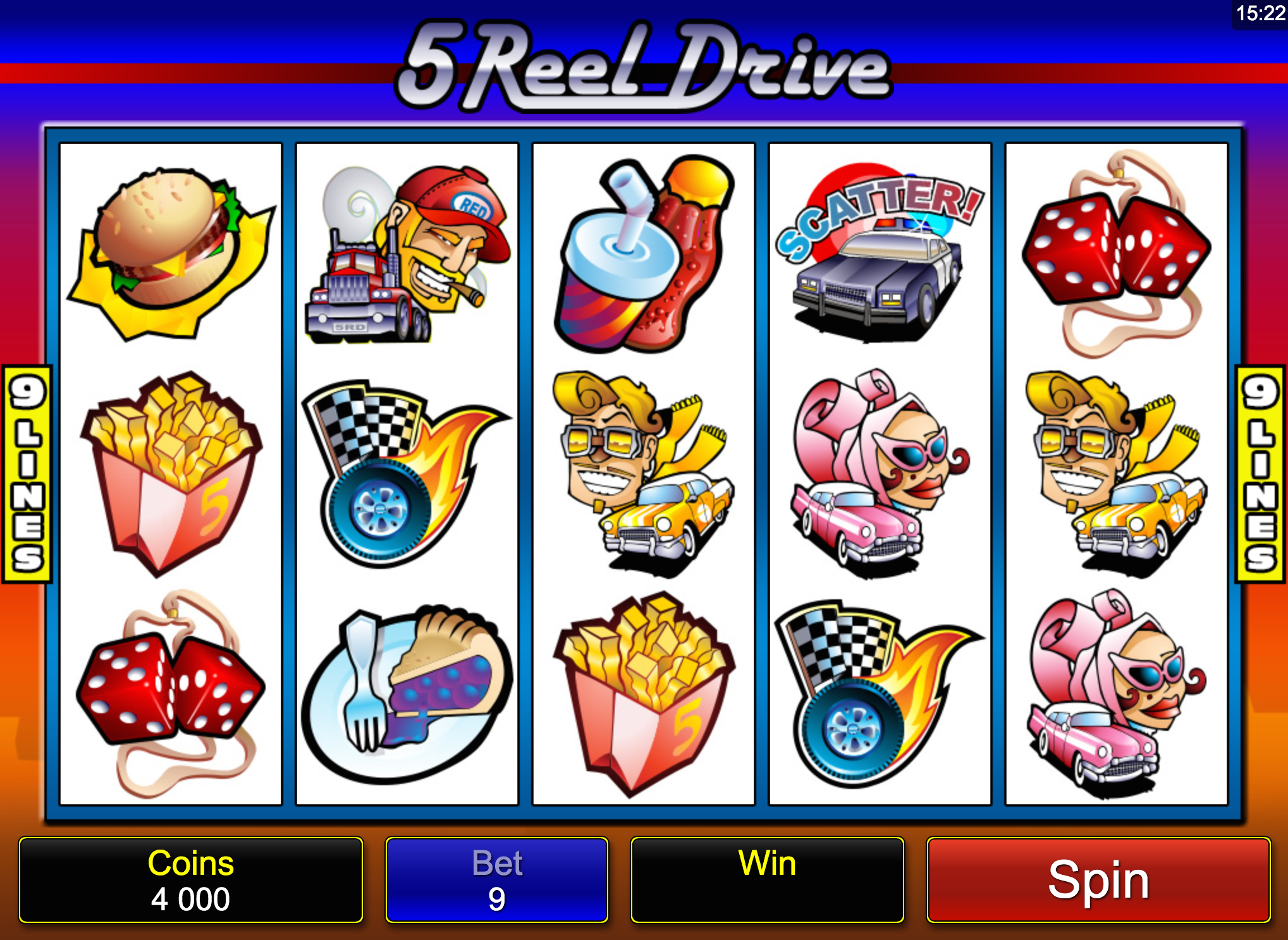 5 reel drive screenshot