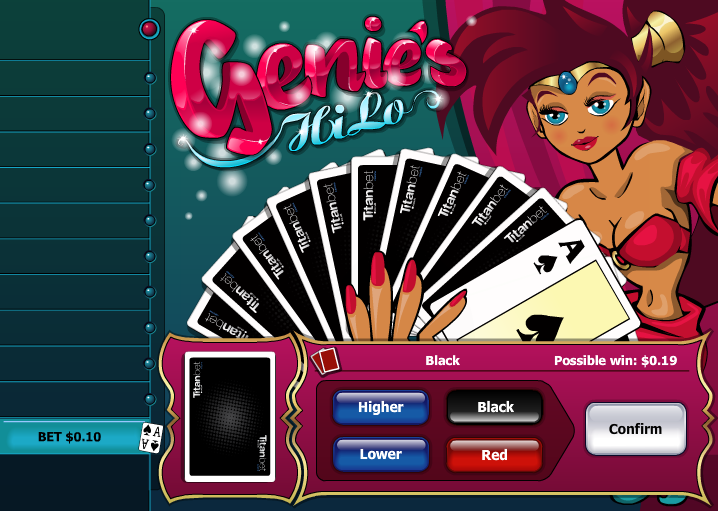 Play Genies HiLo Video Poker Online at Casino.com UK
