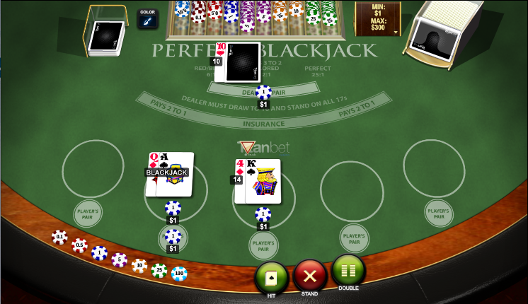 perfect blackjack screenshot