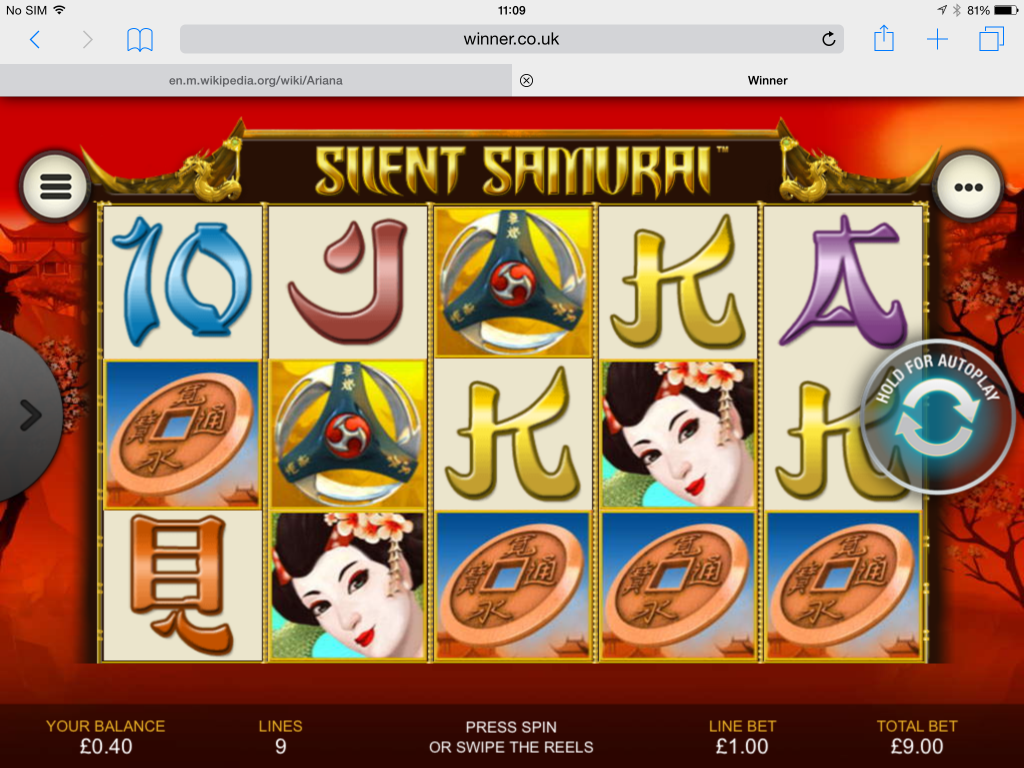 Play Silent Samurai Online Slots at Casino.com UK