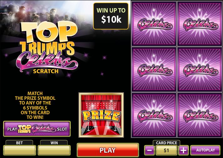 Play Top Trumps Celebs Scratch at Casino.com UK