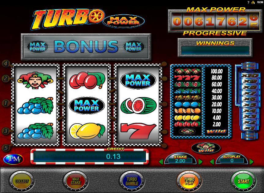 turbo max power slot