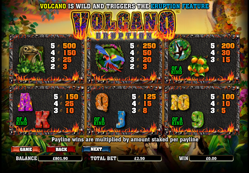 Volcano Eruption Slot Machine Online – Play Now for Free