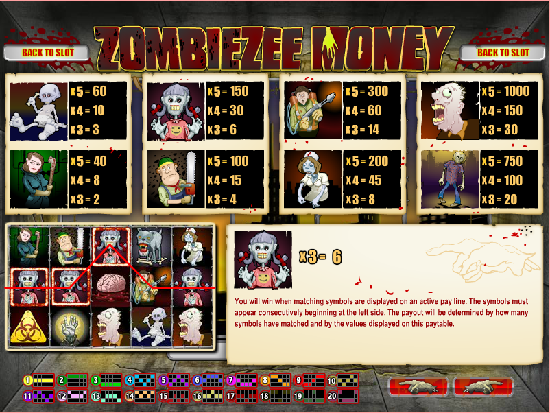 Zombiezee Money Slots Review & Free Instant Play Casino Game