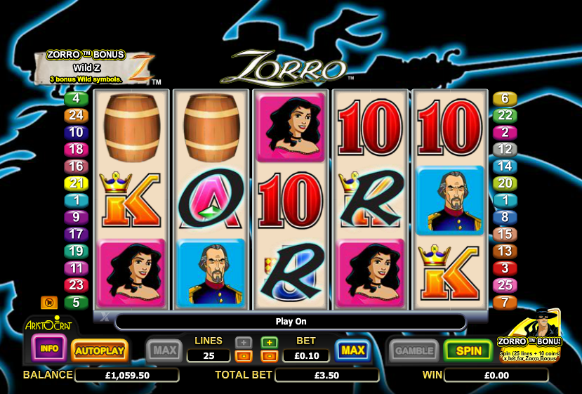 15/08/ · Start play the free online Zorro slot machine by Aristocrat Gaming as it`s available for free and without download in all online casinos from our list.It's based on the famous hero with the same name.(You may know Zorro as the liberator of Los Angeles and damsels in distress.) Because of the theme, the game has a comical look and interface.Surprisingly, it is filled with lots of bonus features 4,6/5(44).