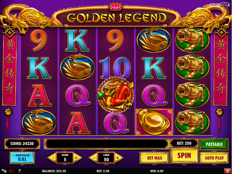 golden legend slot review