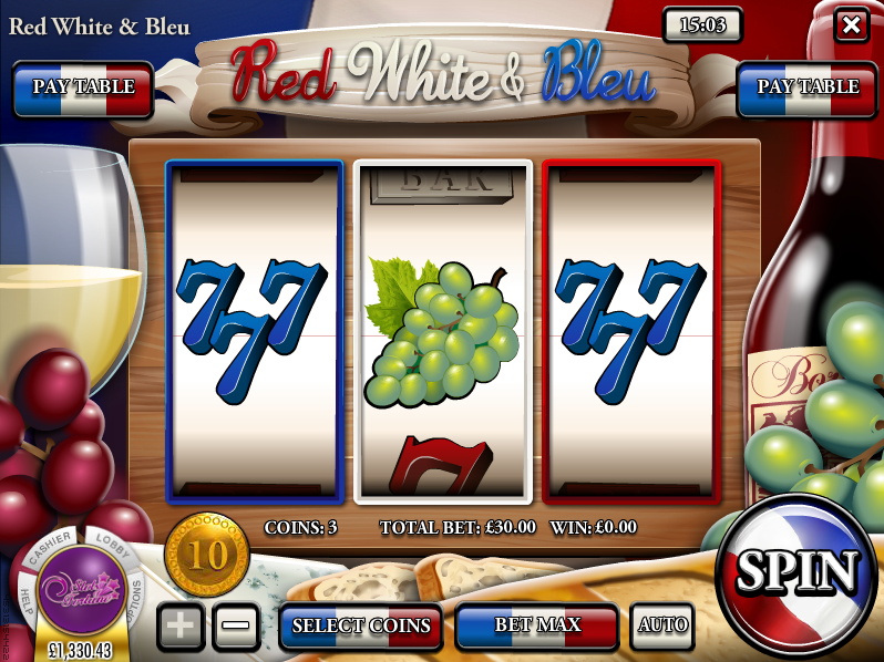 red white & bleu slot