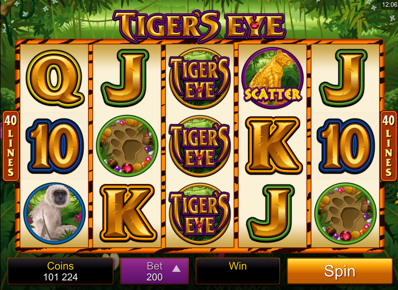 casino slot eye of the tiger