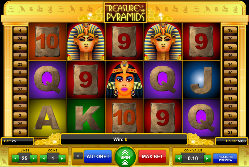 Treasure of the Pyramids Slot - Review and Free Online Game