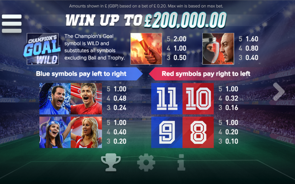 Champions Goal Slot - Available Online for Free or Real