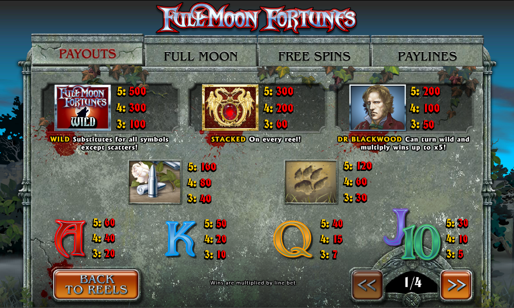 Play Full Moon Fortunes Slots Online at Casino.com India