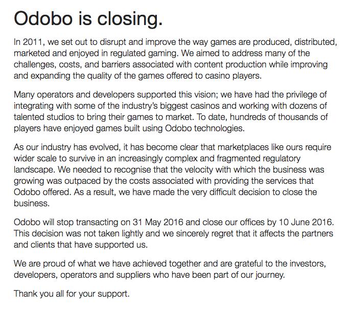 odob closing