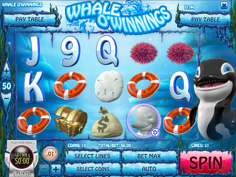whale o'winnings slot