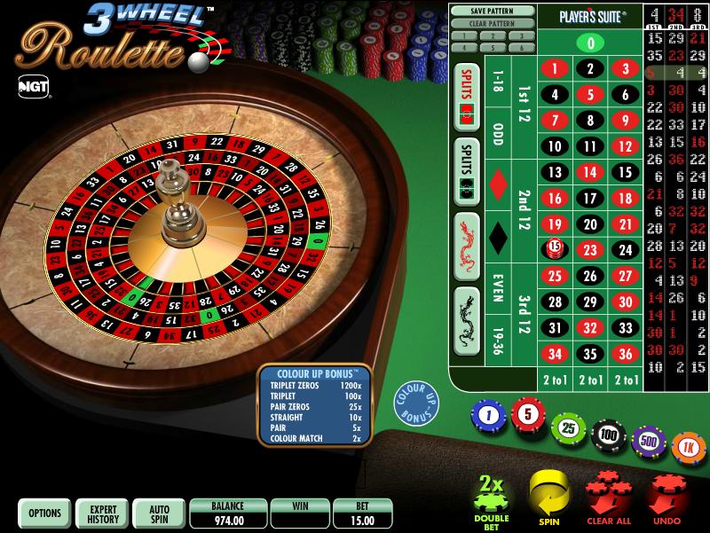 3 wheel roulette slot