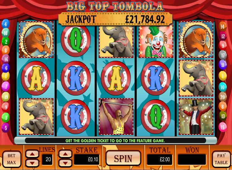 big top casino no deposit