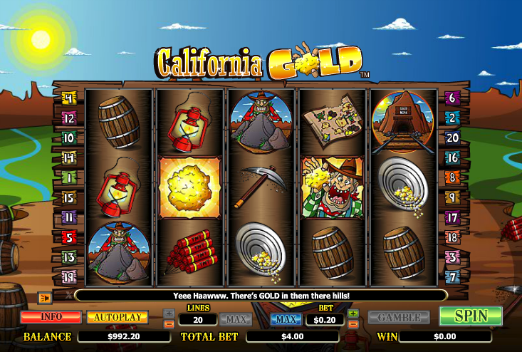 california gold slot