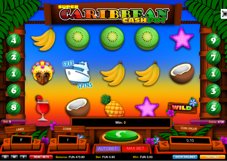 Super Caribbean Cashpot Slots - Review and Freeplay Game
