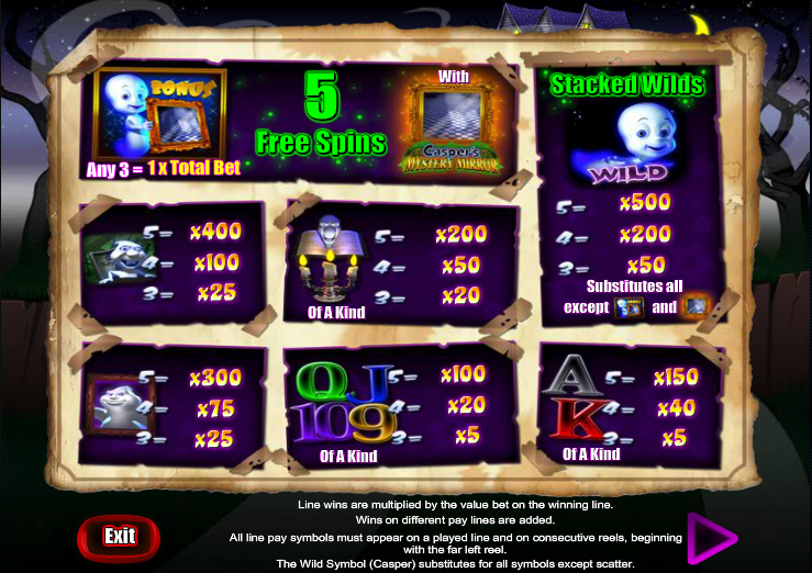 Casper's Mystery Mirror Slot Review & Free Instant Play Game
