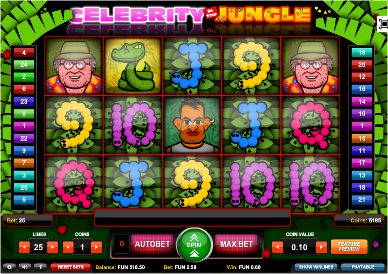 Celebrity in the Jungle Slot - Play Online Slots for Free