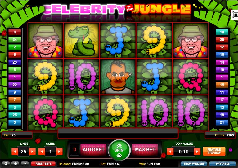 celebrity in the jungle slot