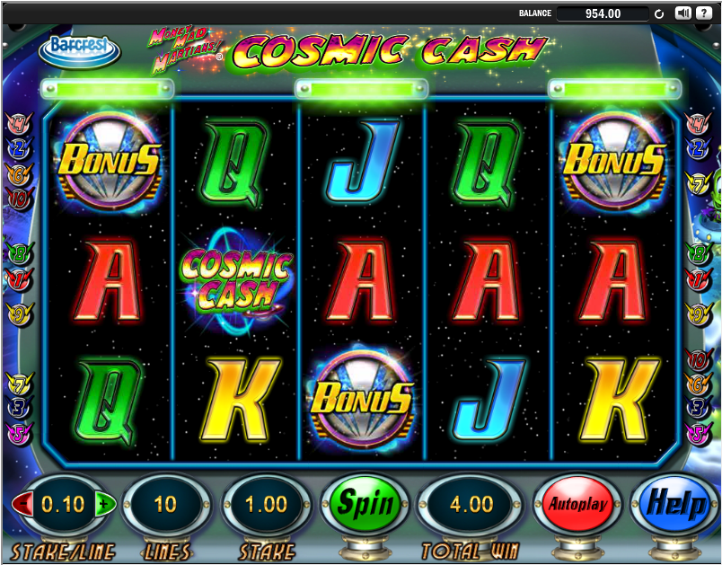 cosmic cash slot