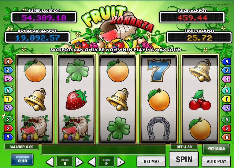 fruit bonanza screenshot