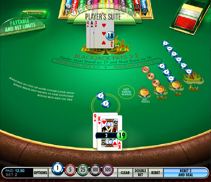 hot streak blackjack