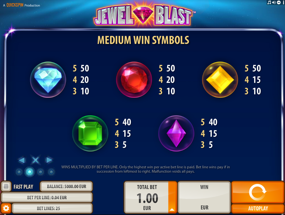Jewel Blast Slot Machine - Play Free Quickspin Slots Online