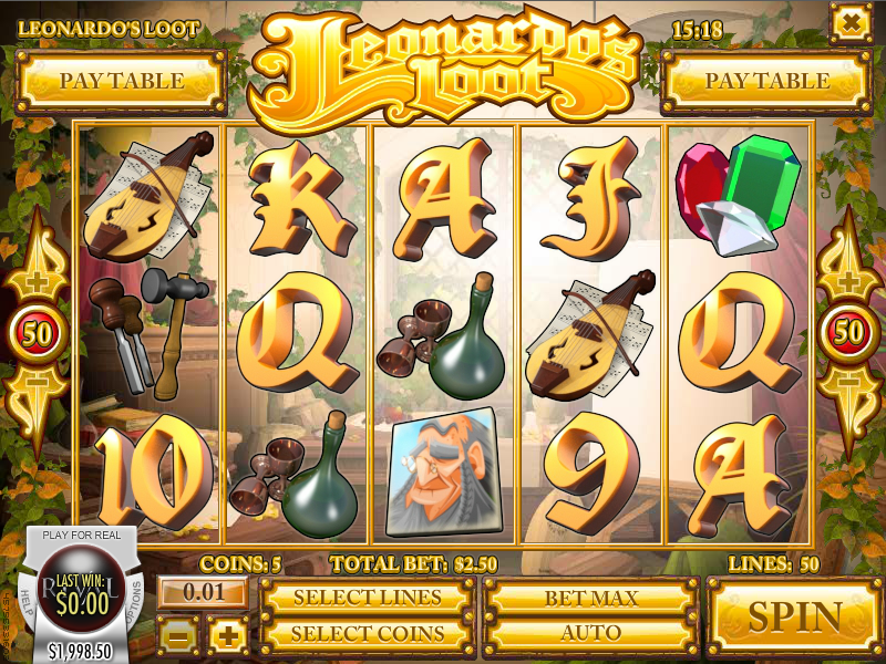 Leonardos Loot Slots - Play for Free & Win for Real